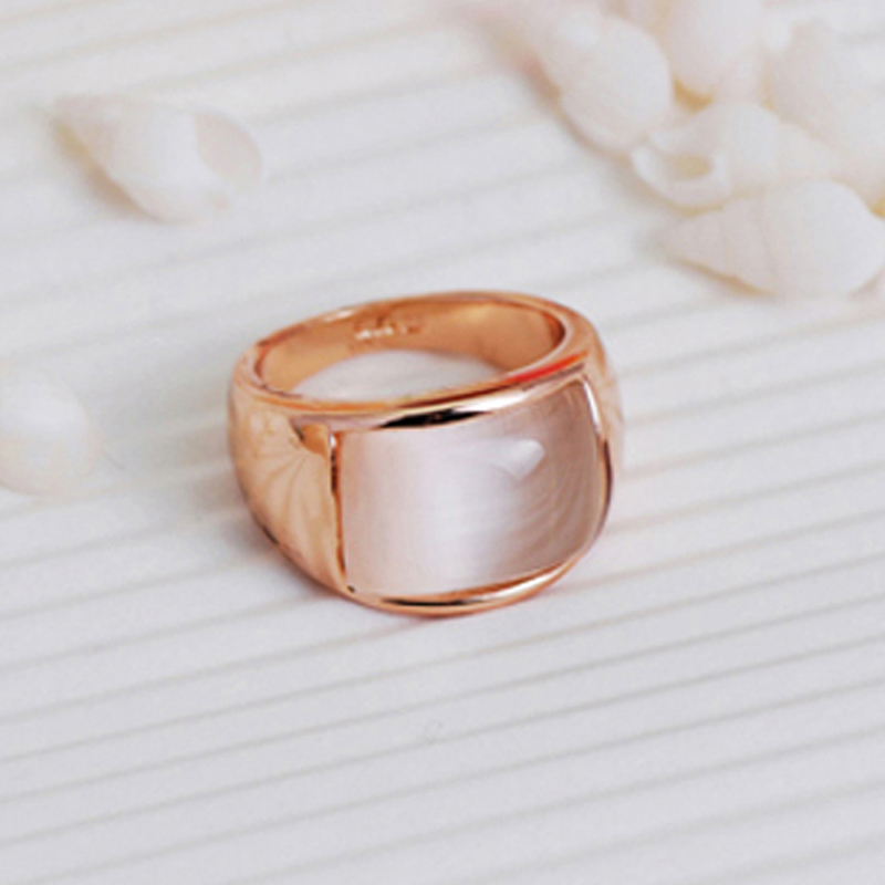 MOONROCY Free Shipping Fashion Jewelry Wholesale Rose Gold Color Opal Crystal Ring Jewelry Rings for Women Girl Gift szjinao custom processing exquisite luxurious rose gold color emerald rings for women wholesale christmas gift wholesale
