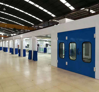 Sheet Metal Paint Line Multi-booth Car Spray Paint Booth Production Line