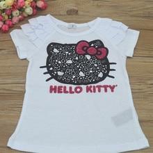 girl t-shirt kids clothes girls tops T-shirt for a girl children T-shirt for girls baby CYY01 2016 hot sale short sleeve