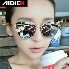 Polarized cat eye shades for women 2019 fashion ladies sun glasses vintage metal frame luxury brand UV400 mirror sunglasses все цены
