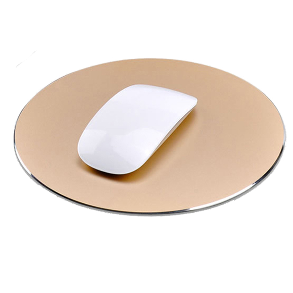 ELENXS Waterproof Gaming Mouse Pad Aluminum Alloy Metal Mouse Pad Round Slim Mousepad for MAC/PC Office Computer Table
