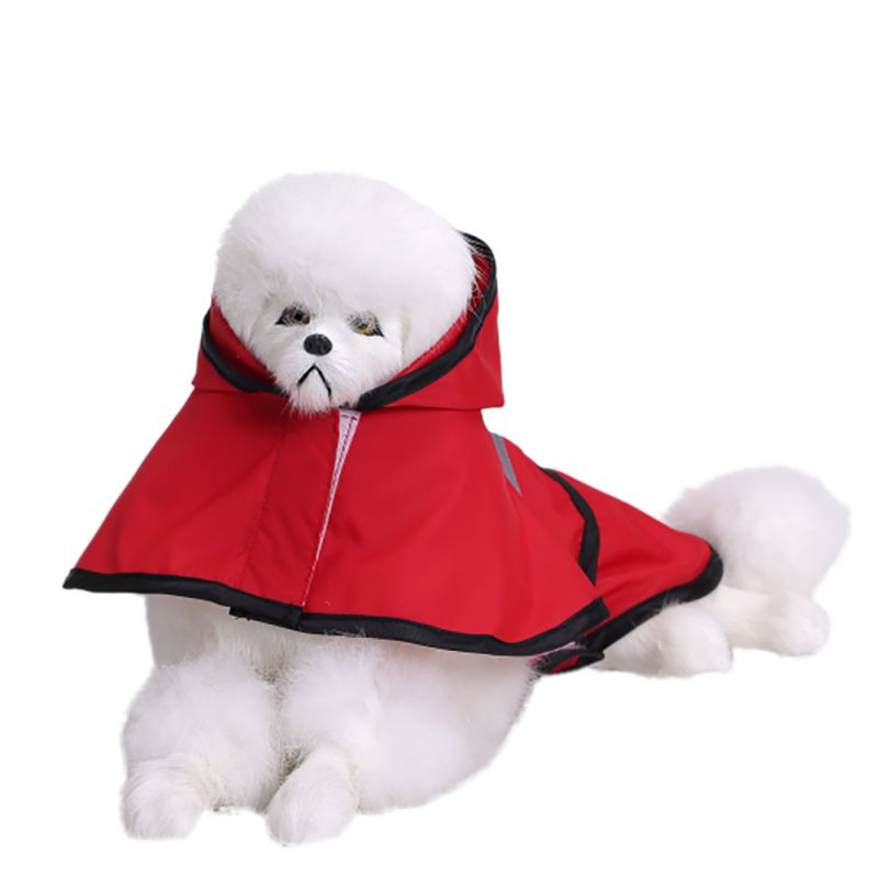 Pet Dog Rain Coat Jacket Clothes Dog Puppy Waterproof Hoodie Raincoat XS-XXL