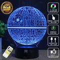 Death Star 3D Lamp New BB-8 Star Wars Lamp Remote Control LED Novelty Night Lights USB Glowing Child's Gift HUI YUAN Brand