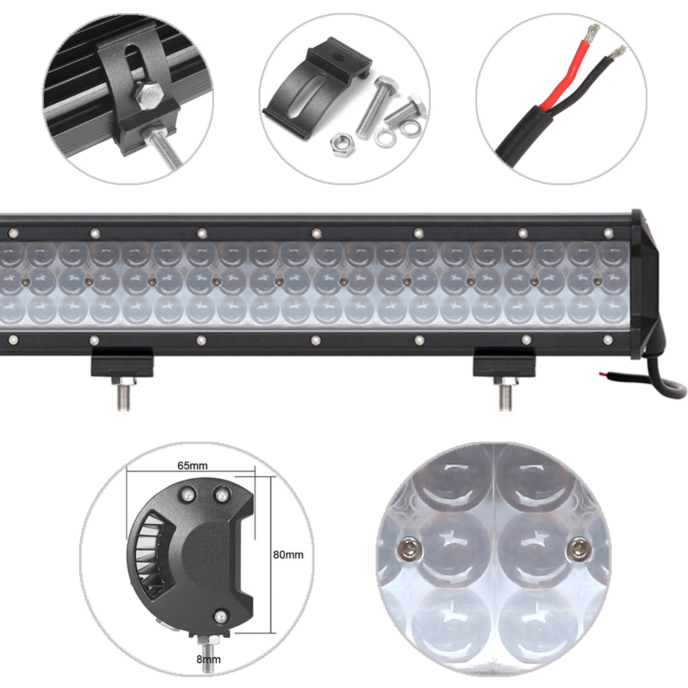 Image 4 - 4D Projector Lens Niva 4x4 Offroad Led Light Bar For Spot Beam Car Truck Tractors Motorcycle Boat ATV SUV Work Lights Spotlights-in Light Bar/Work Light from Automobiles & Motorcycles