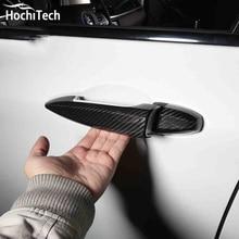Real carbon fiber außen dekorative auto türgriff abdeckung schutz auto styling für bmw X1 F48 2016 2017