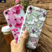 Cyato Unicorn Silicone Back Cover Case for iPhone 6 7 8 Plus Floral Matte TPU Soft 6s Capa Coque
