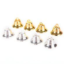 10 adet Metal Bells küçük Bel takı süsler DIY noel ağacı bells noel dekorasyon kolye