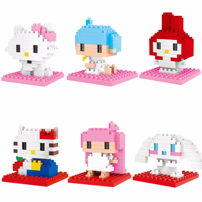4343G1 Diamond blocks action Figures Model Toys Cat Anime Building Blocks Diamond blocks gifts toys for Children 5 colors loz diamond blocks dans blocks iblock fun building bricks movie alien figure action toys for children assembly model 9461 9462