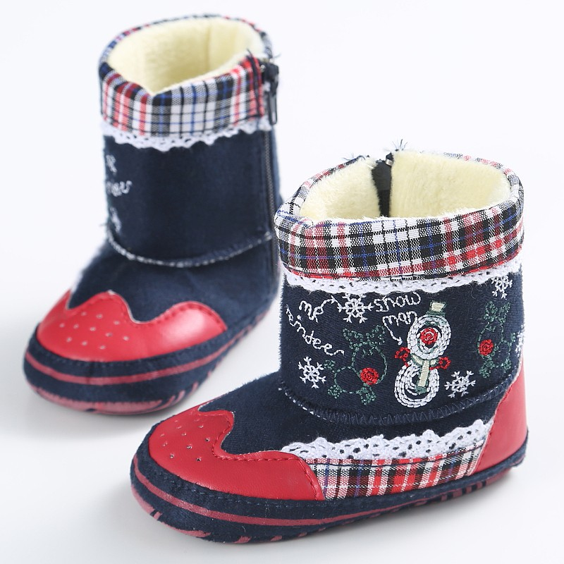 Winter Warm Baby Girl Boys Shoes Soft Bottom Non Slip Boots Snow Boot Christmas Gifts