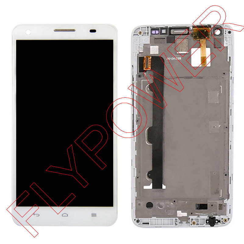 For Huawei Honor 3X Ascend G750 LCD Screen Display with Touch Screen Digitizer Assembly+frame white free shipping;100% Warranty