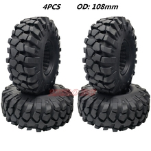 4PCS 108mm ROCK OFF-Road Tires RC CAR 1.9 Tyre For 1:10 RC4W