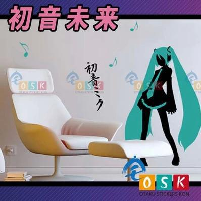 Pegatina Anime Cartoon Car Sticker Hatsune Miku Vinyl Wall Stickers Decal Decor Home Decoration 001