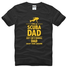 I'M A SCUBA DAD Printed T Shirts Men Fashion Short Sleeve O Neck Cotton Men's T-Shirt Summer Style Men Tops Tees Dad Gift S-3XL