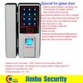 fingerprint lock for glass door support by card+fingerprint +password+remote+voice control  open and  alarm when break