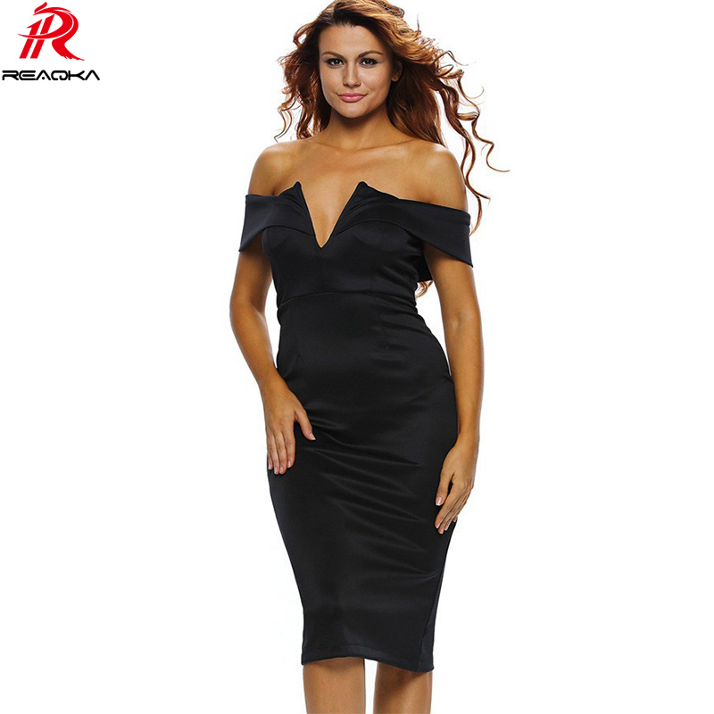 Reaqka Sexy Women Off Shoulder Backless Summer Dress 2018 HL Elegant Pink  Red Black Strapless Club Party Dresses Vestidos Mujer-in Dresses from  Women s ... fa4dbe694b44