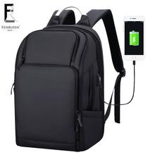 FRN multifunción carga USB hombres 17 pulgadas mochila portátil impermeable de alta capacidad mochila mochila de viaje informal contra el robo