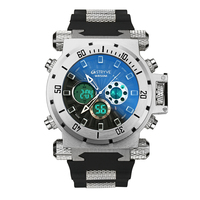STRYVE Watch Men Sport Quartz Clock Mens Watches Top Brand Luxury Led Digital Waterproof white Wrist Watch Relogio Masculino