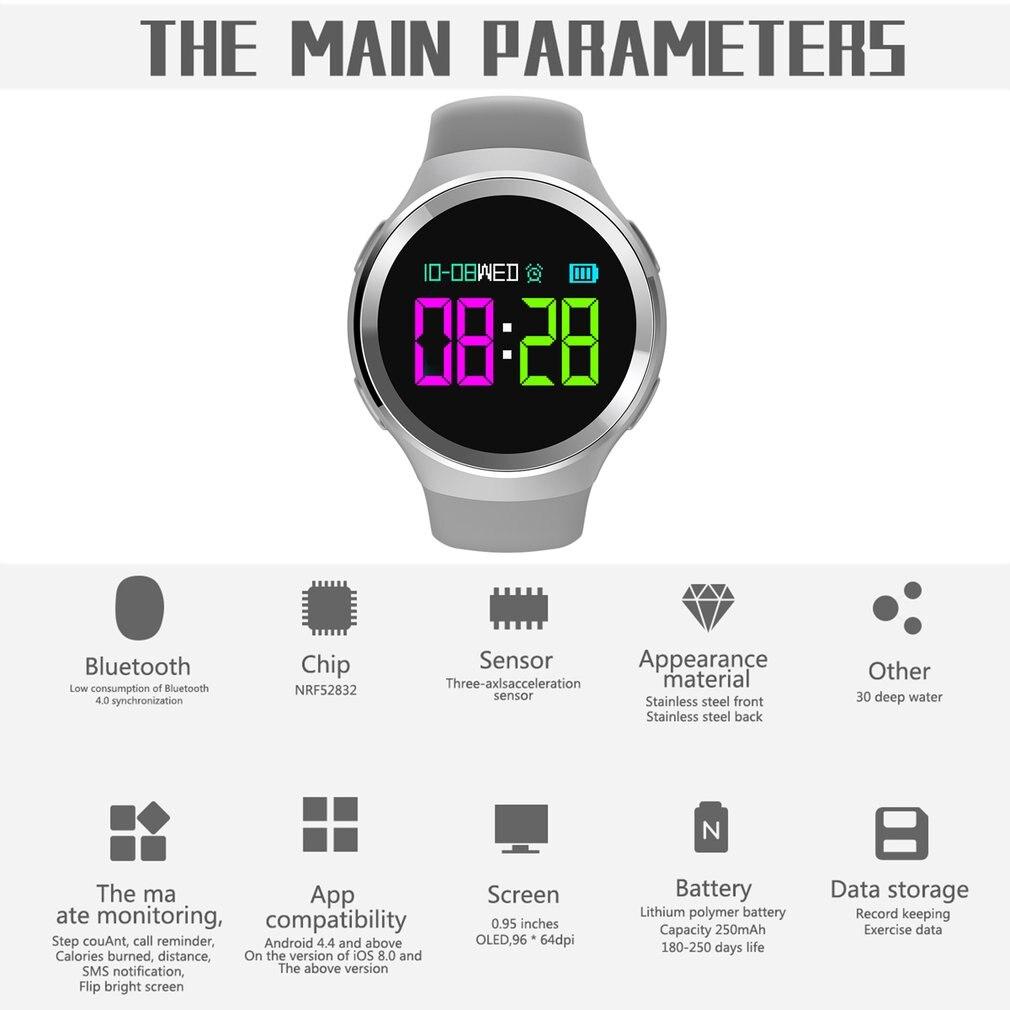 2018 OLED Screen N69 Bluetooth Smart Watch 30m Waterproof Smartwatch Heart Rate Sleep Monitor Pedometer Anti-lost Tracker Watch