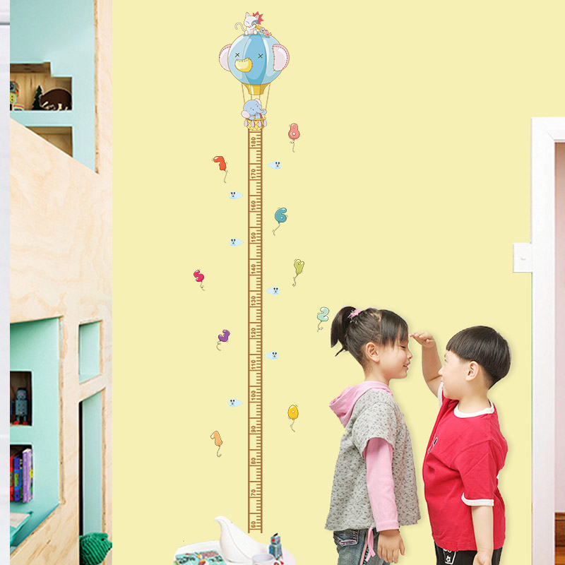 Kids Height Chart Measure Removable Bedroom Wall Stickers Child Grow Ruler Decal