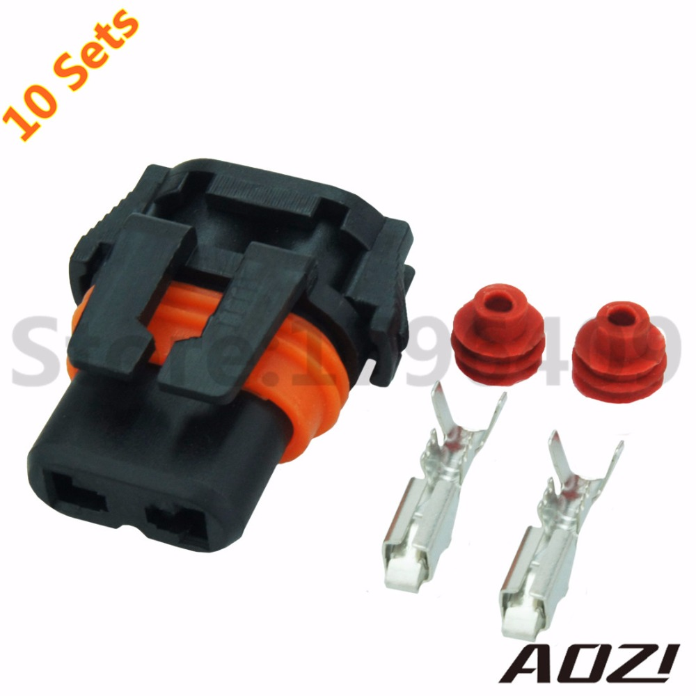 10 sets kit DJ 9005 Auto Wire Harness Waterproof Female Connector 2 Pins  Adapter-in Connectors from Lights & Lighting on Aliexpress.com | Alibaba  Group