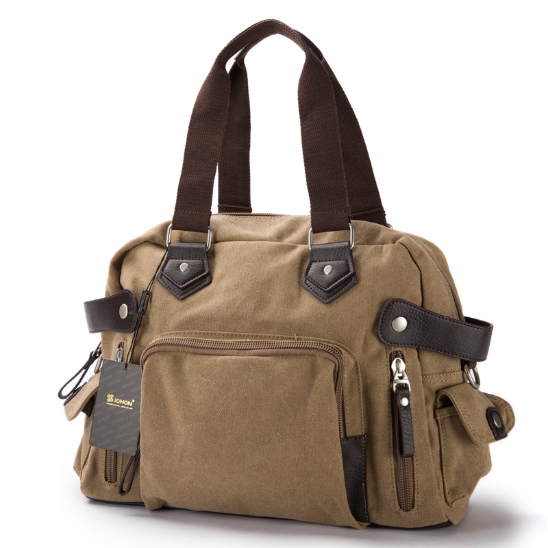 New shoulder casual bag messenger bag canvas man travel handbag for male trip/daily use,grey khaki black color free shipping