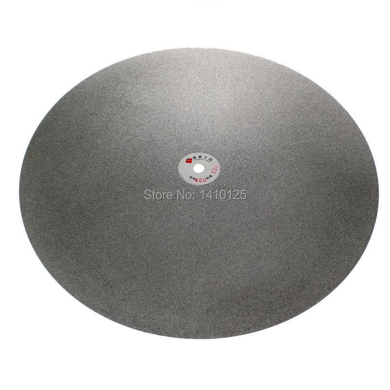 16 inch 400mm Grit 150 Medium Diamond coated Flat Lap Disk Grinding Polish Wheel 6 inch lapidary concave arc diamond coated grinding wheel grind spherical 6 mm ilovetool