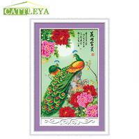5d Diy Diamond Painting Peacock Peony Animal Cross Stitch Diamond Embroidery Crystal Round Diamond Mosaic Pictures