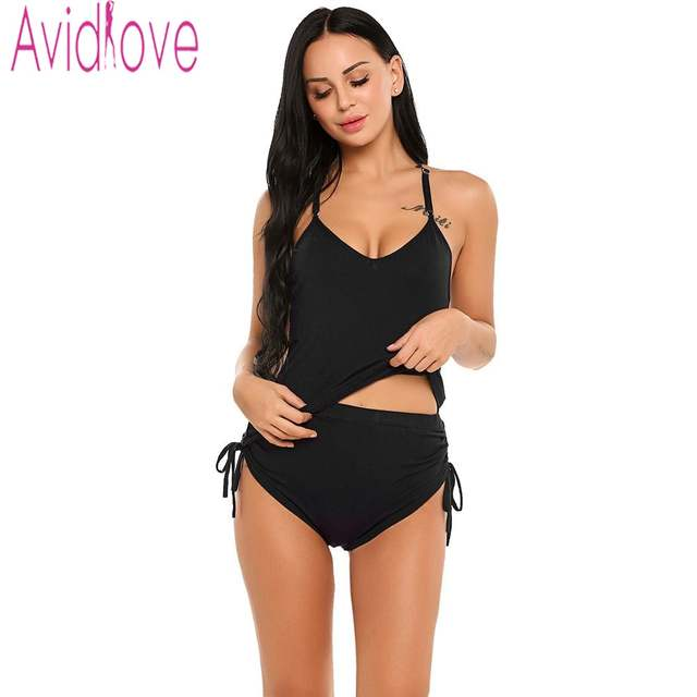 69ec79ecec6b Online Shop Avidlove Sexy Short Pajamas Suit Women Cotton Sleepwear Camis  Tank Top   Shorts Pyjama Set Nightwear 2 Piece Home Clothing XXL