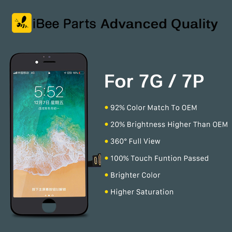 iBee Parts 10PCS New Generation Advanced for iPhone 7 7 Plus LCD display Touch screen Replacement