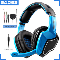 Sades SA 920 Wired 3 In 1 Gaming Headset Headphones For PC Laptop PS4 Xbox360 Macbook