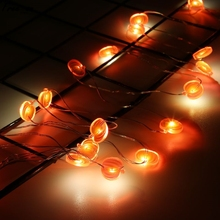 2M String Lights Holiday Fairy Lights Romantic Lantern Battery Operated Red pumpkin Pattern Decor For Garland Christmas Party