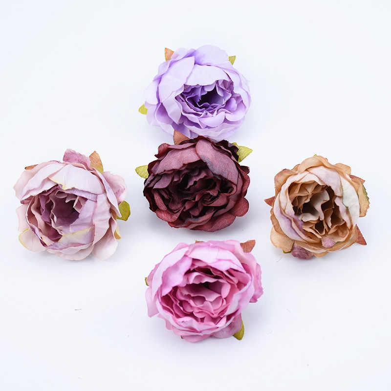 6pcs Silk peony stamen fake plastic flower wedding home decor accessories artificial flowers diy gifts bridal brooch scrapbook