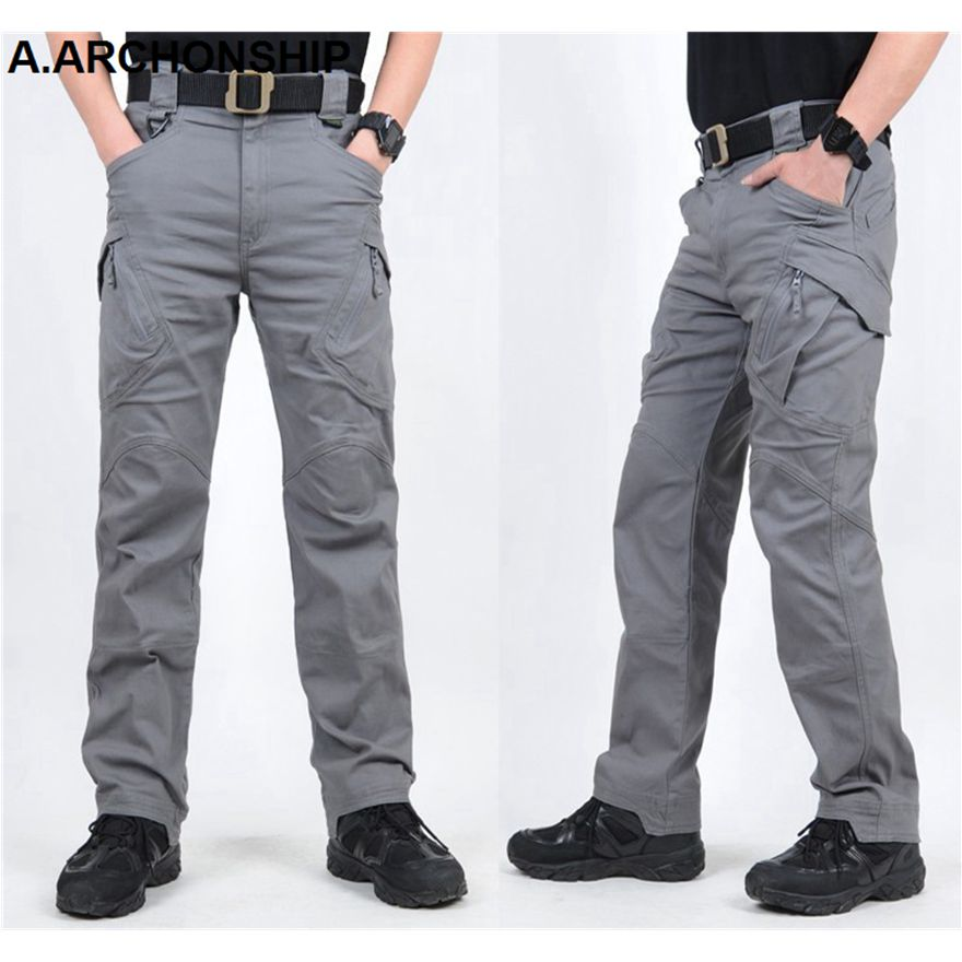 2019 IX9 II Men Militar Tactical Pants Combat Trousers SWAT Army Military Pants Mens Cargo Outdoors Pants Casual Cotton Trousers 2