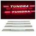 4 pçs/set iluminado Peitoril Da Porta Scuff Cover Plate DIODO EMISSOR de Luz para a Toyota Tundra 2008-2015 Car Styling Acessórios Auto