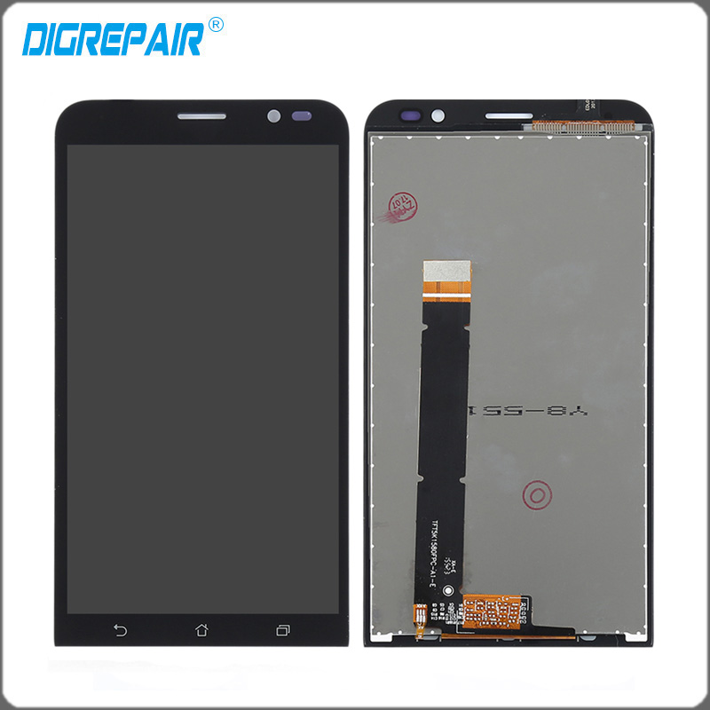 Black For ASUS Zenfone Go TV ZB551KL <font><b>LCD</b></font> Display Monitor Touch Screen Panel with Digitizer Front Glass Assembly parts Accessory