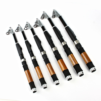 FISH KING High Carbon Saltwater Rod Superhard Telescopic Fishing Ultra Light Rod 1.6M 3M Bass Surf Fishing Rod Spinning