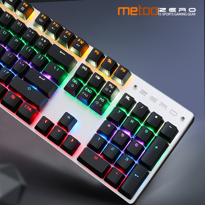 Metoo LED Backlight Keyboard 87 104 Keys N-Key Rollover Ergonomics Design Real Mechanical Switch Gaming Keyboard Russian English duhan motorcycle jacket waterproof moto jacket men s motocross clothing motorcycle suit with elbow shoulder back ce protector