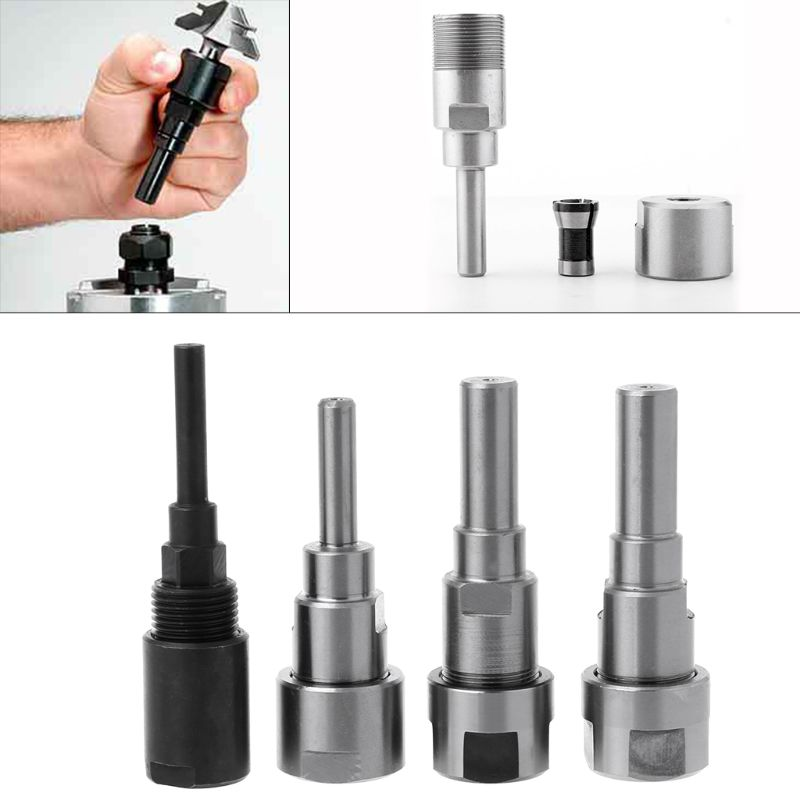 Router Bit Collet Extension Rod 1//4in Shank For Router Trim Molding Machine Set