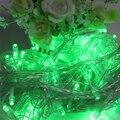 UE Plug 100 LED 10 M Luces de Hadas De Cuerda Lámparas 9 Colores Decoración Fuentes Del Partido de la Boda de La Navidad Iluminación Al Aire Libre