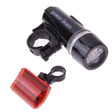 Waterproof Bike Lights 5 LEDs Bicycle Front Head Light 5 LED Cycling Safety Rear Flashlight Torch