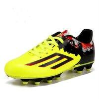 Новинка 2016 он Весна и осень футбольные кроссовки для мальчиков кожаные кроссовки Футбол обувь европейские размеры 33 39