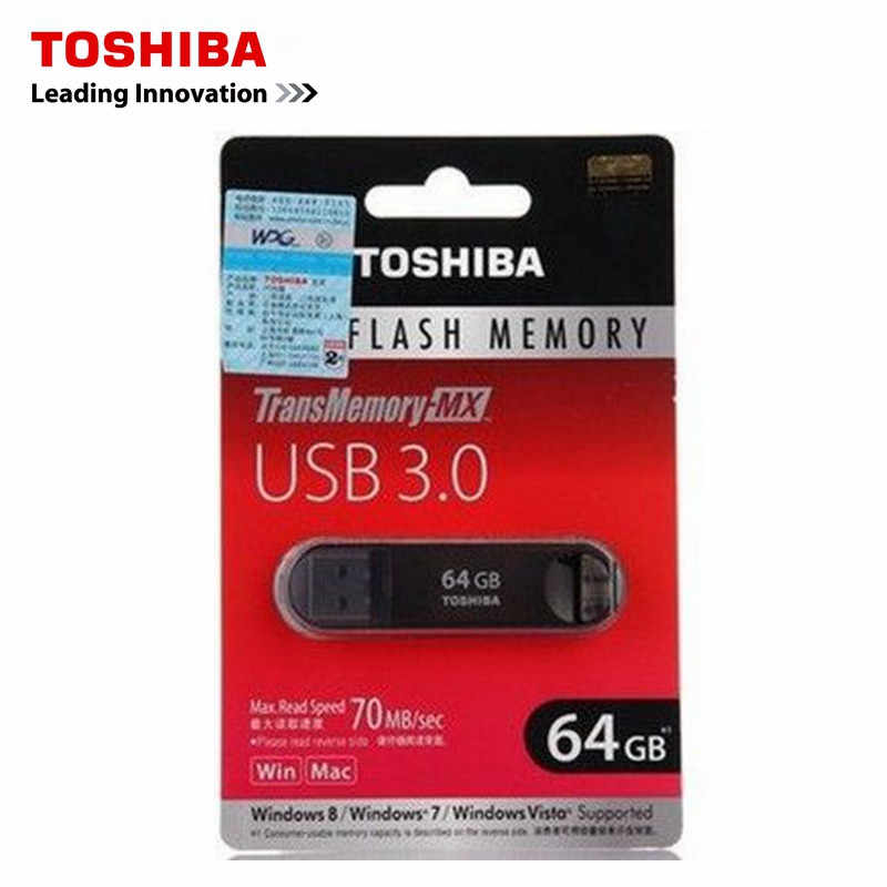 TOSHIBA USB Flash Drive USB 3.0 Pen Drive 64GB 32GB 16GB Pendrive Memory USB Stick Memoria Flash Disk Pendrives original 70M/s