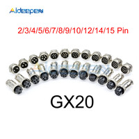 100set GX20 Aviation Connector Male Plug Female Socket Circular Connector 4 Pin Wire Panel Connector