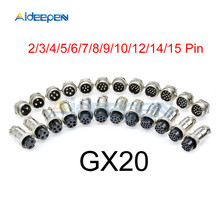 1set GX20 Aviation Connector Male Plug Female Socket Circular Connector 2/3/4/5/6/7/8/9/10/12/14/15 Pin Wire Panel Connector цена 2017