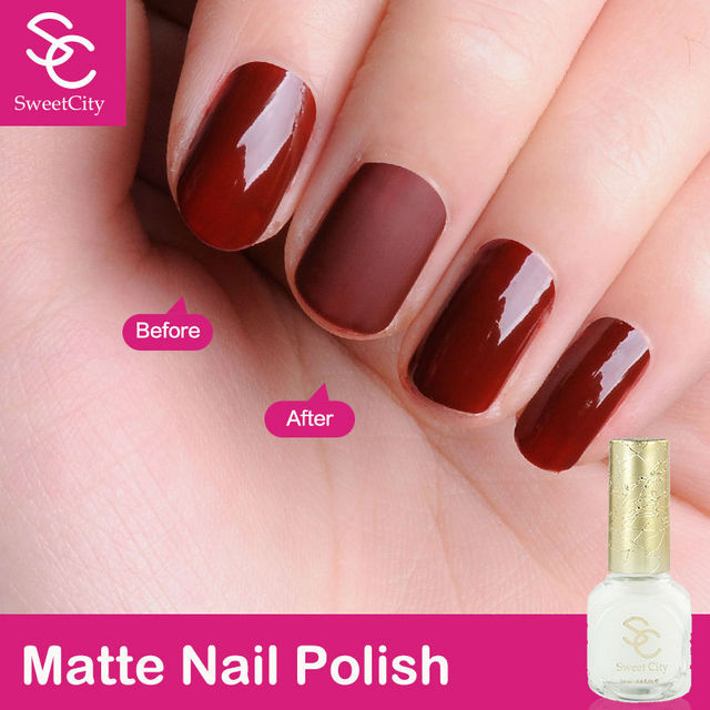 Matte Nail Polish SweetCity Brand High Quality Quick Dry Transparent Color For Gel Lacquer Art
