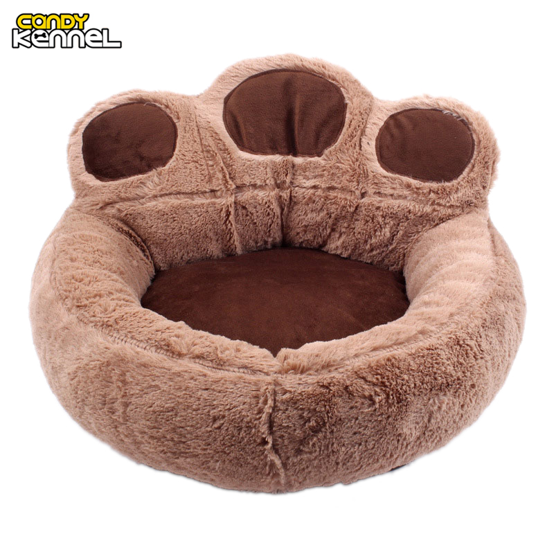 Candy Kennel Paw Shape Pet Dog Cat Bed Sofa Nest Soft Pp