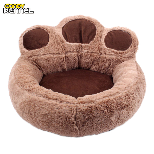 CANDY KENNEL Paw Shape Pet Dog Cat Bed Sofa Nest Soft PP Cotton Dog Warm Kennel Bed House Pet Mats Cushion Removable D1065
