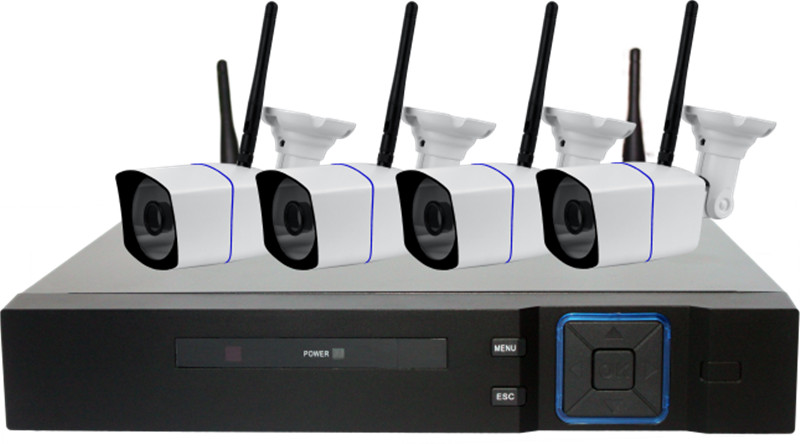 Wireless 960p WIFI IP Bullet Camera 4CH 1080P NVR Kit