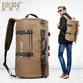 Alta calidad de Múltiples funciones de mochila de lona Hombres de Bolso de Hombro Retro de Ocio de moda de Alta capacidad bolsos Del Recorrido Del Envío libre