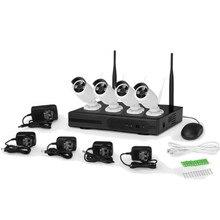 4CH Wireless Cctv Wifi Camera Security System Kit H.265 Plug Play Surveillance 2MP Nvr Set 1080P Outdoor IP Cameras 1TB HDD